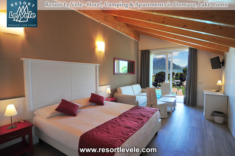 hotel resort le vele domaso lake Como - Suite with balcony lake view