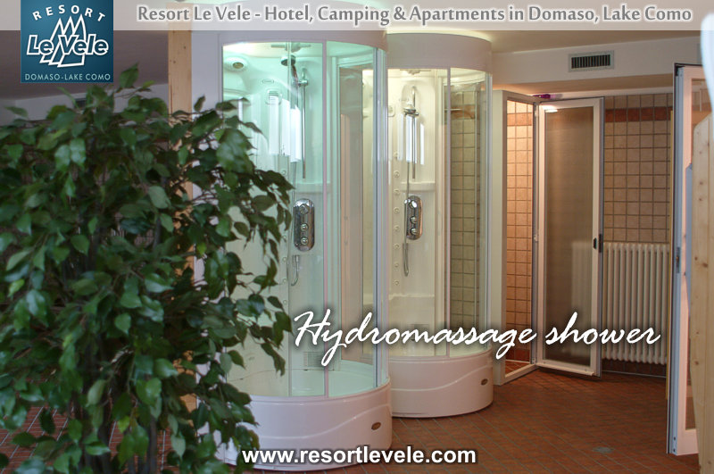hydromassage shower welness center hotel Comomeer