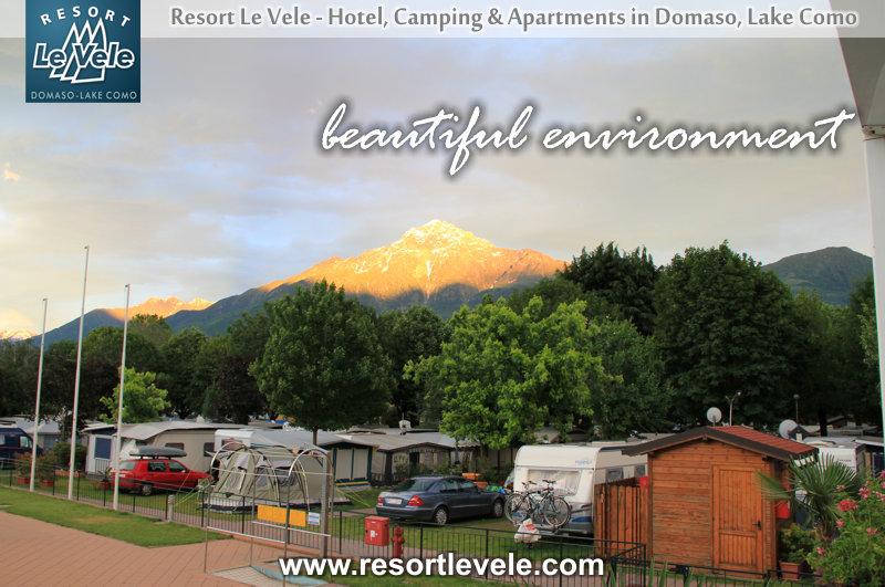 wonderful environment camping lake como